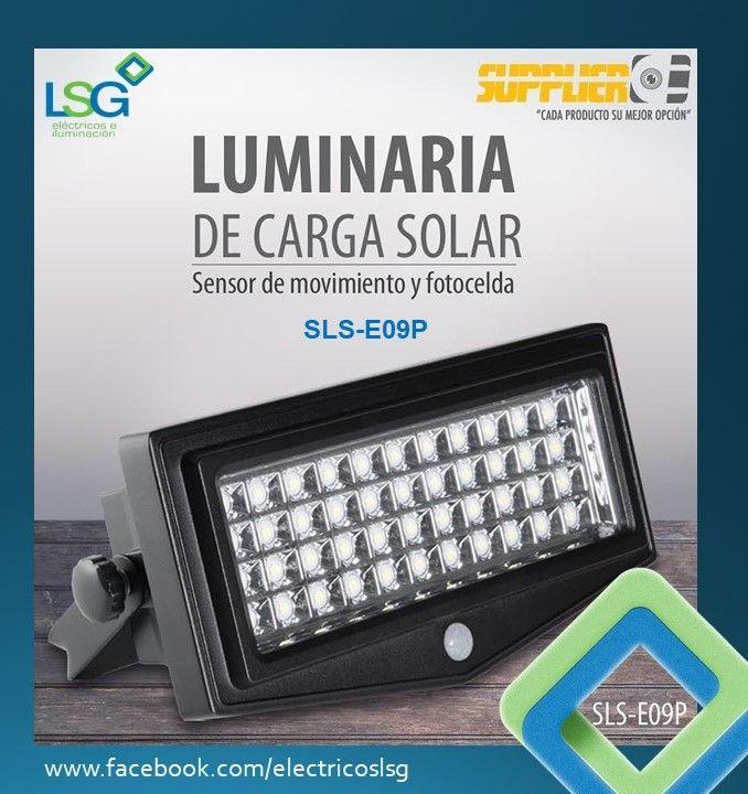Luminaria De Carga Solar Con Sensor De Movimiento Y Fotocelda Sensor De Infrarrojo Pir No R Sensores De Movimiento Material Electrico Instalacion Electrica