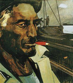 Tahir Salahov - Oil Worker with Red Cigarette (1959)
