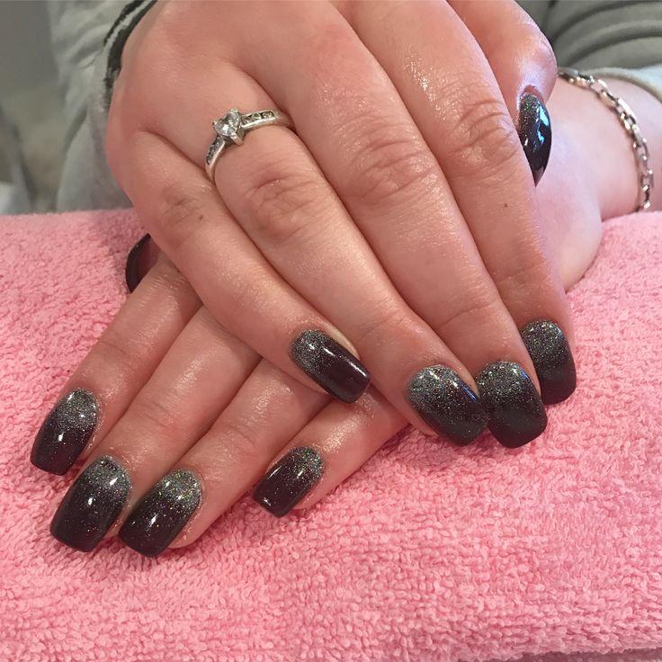 Glitter Fade #californianails  #nails #negler #nailart #design #glitter #stavanger #norway #norge  #acrylic #shellac #nude #beauty