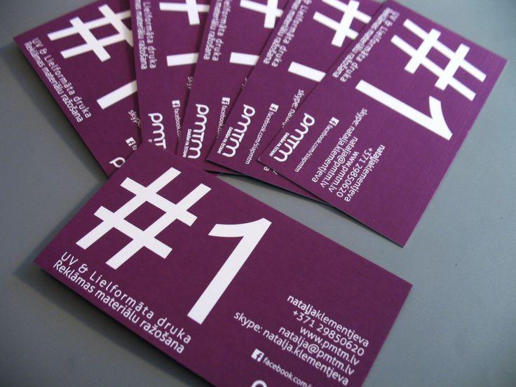 Purple business card #1 / Violetā krāsa un trešais vizītkaršu variants / Фиолетовое исполнение все той же визитки