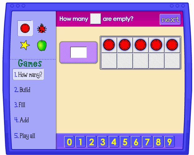 Kindergarten math sites - by strand. Love this- have used this with one of my Math students!