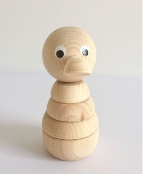 Wooden Stacking Duck #woodentoys #woodendecor #woodenstacking #woodenbuildups #woodenduck #kidsroom #nursery #oliverthomas