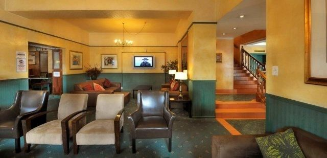 The Tulip Hotel Lounge ~ The lounge at the Tulip Hotel and COnference Centre is a comfortable spot with a large screen LCD TV for sports and other viewing