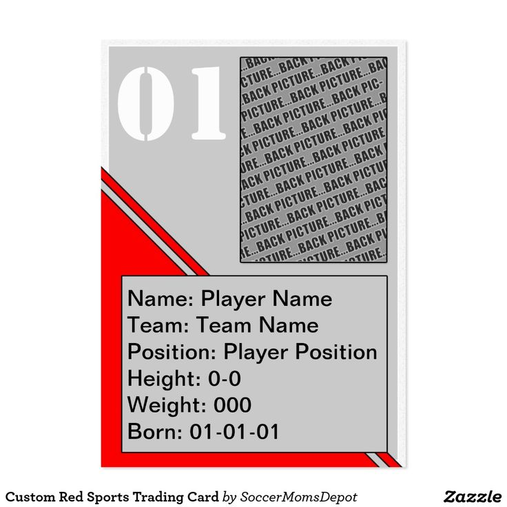 16 best Custom Sports Trading Cards images on Pinterest Trading - trading card template