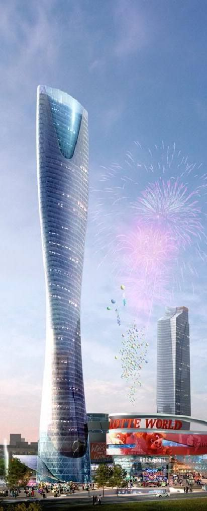 Shenyang Lotte World Tower, Shenyang, China by RTKL and Junglim Architecture :: 65 floors, height 275m [Futuristic Architecture: http://futuristicnews.com/category/future-architecture/] #bodegas #RealEstate