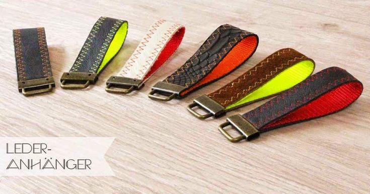 Schlüsselanhänger, basteln, DIY, selber machen, einfach, leicht, Leder, Gurtba…