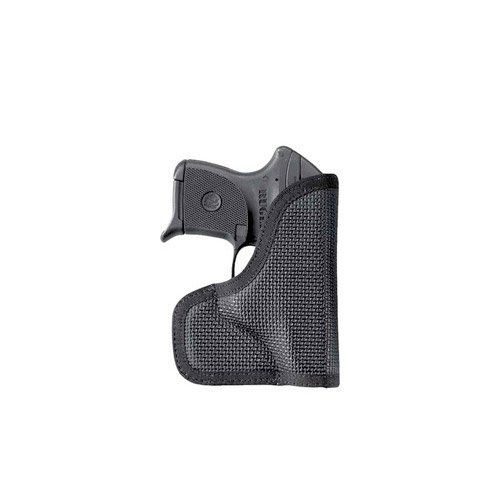 DeSantis Nemesis LCP/P3AT Ambidextrous Holster (Black) by DESANTIS. $20.56. This will revolutionize pocket holsters. Never before has there been a material this viscous. It is so sticky it's almost like fly paper. This pocket holster will absolutely not move out of position in your front pocket. The inside is made of a slick pack cloth for a low friction draw, and the core is just the right amount of foam to break up the outline of the gun.  Available in black.