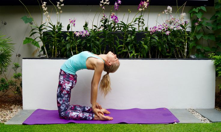 I love the camel pose - so good for the back, neck and such a mood-booster #yoga #fitness #workout #yogagirl
