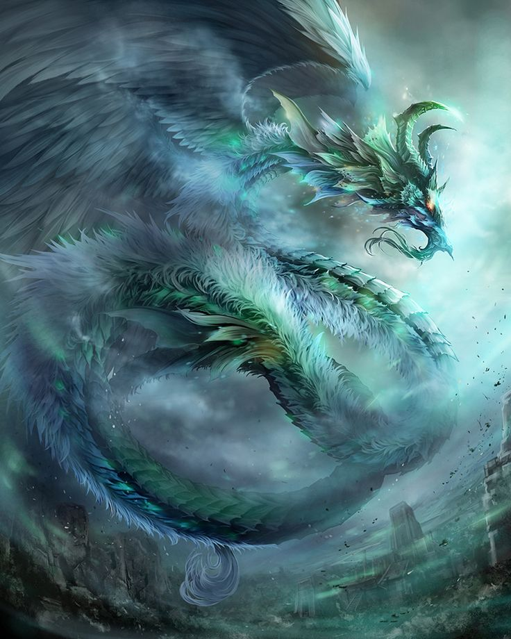 "♥ ""Wind Dragon"" de Antilous   dragon de vent ou d'eau force sûprême"