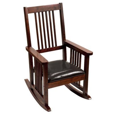 Elegantly Designed With A Clean Silhouette And Rich Hardwood Make This Rocking Chair Channels Grownup Sophistication In Charmingly Petite Package