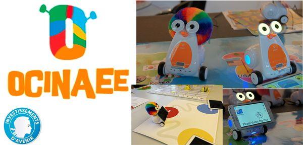 Ocinaee: robots et tablettes pour l'enseignement des maths @digiSchool_fr @awabot @ENSdeLyon @erasme