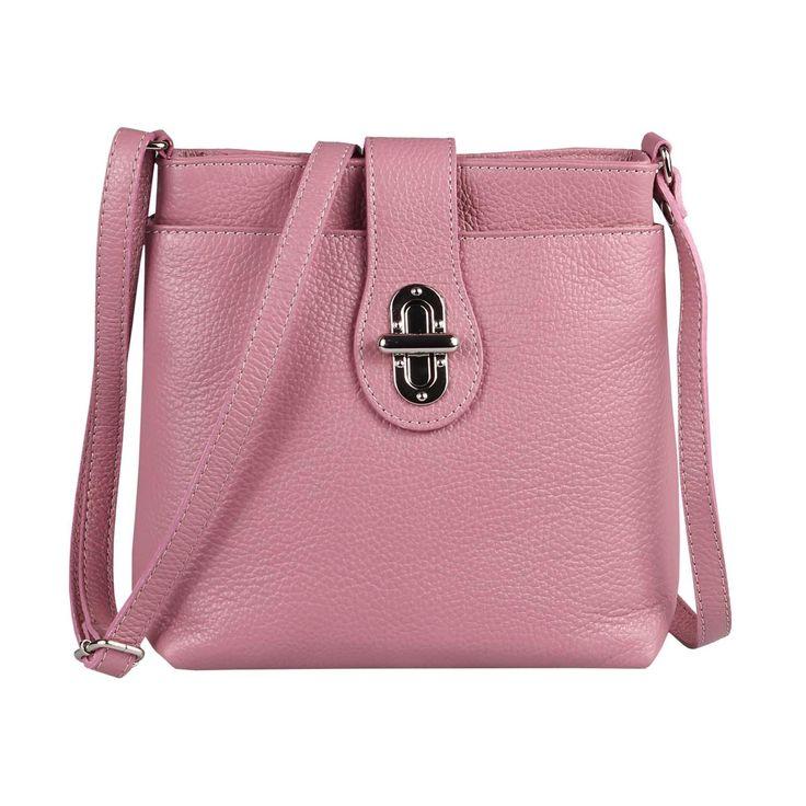 TAL DAMEN LEDER TASCHE Schultertasche City Bag CrossOver Umhängetasche Handtasche Ledertasche Altrosa – Italyshop24.com
