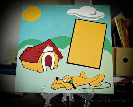 Cricut Disney Mickey and Friends: Plutolayout #scrapbook