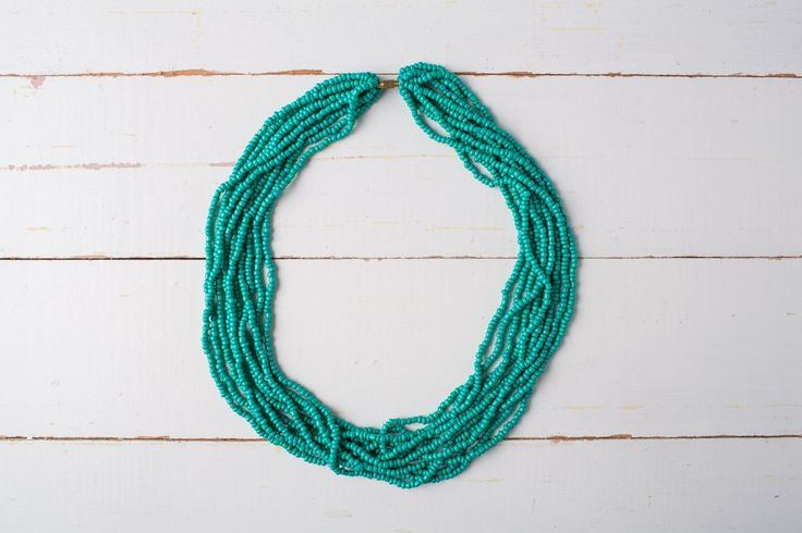 The Nile   Classic elegance – this necklace is inspired by the beauty of the Nile River, which has its source in Uganda.      Length: 22cm approx.     Available in 5 colours  Each piece of Zurii jewellery is unique, and handmade in Uganda. Variations may occur in colour, length and size, which adds to the individuality and beauty of the piece.