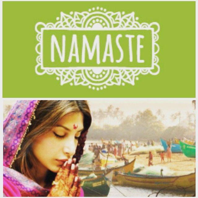 """Намасте́— индийское приветствие и прощание, произошло от слов «намах» — поклон, «те» — тебе. Намасте как жест представляет собой соединение двух ладоней перед собой. В широком смысле означает: """"Божественное во мне приветствует и соединяется с божественным в тебе""""."""