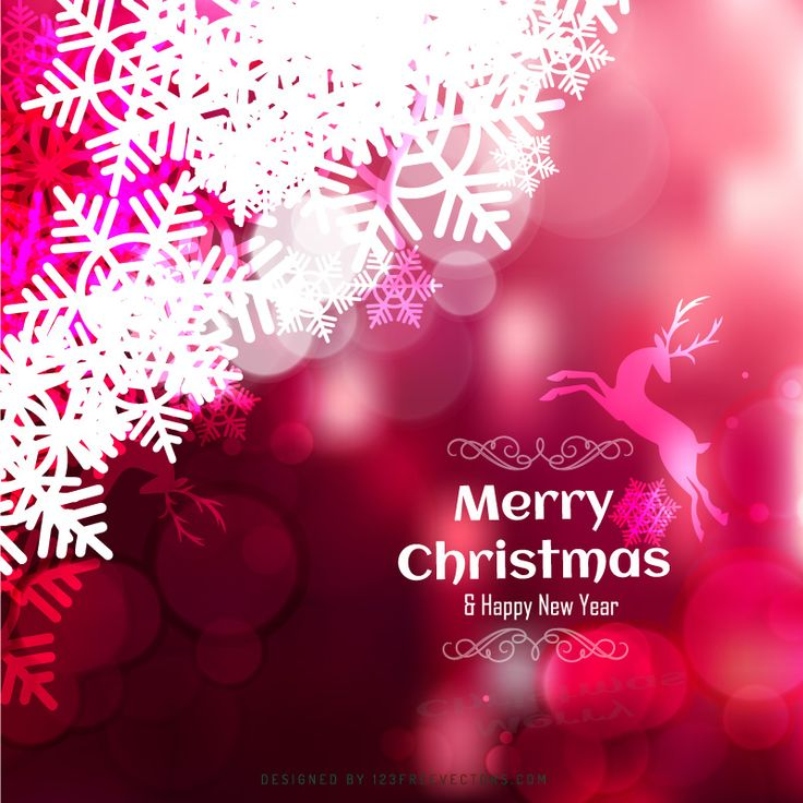 Dark Red Christmas Background with Snowflake and Reindeer  - https://www.123freevectors.com/abstract-dark-red-christmas-background-with-snowflake-and-reindeer-75405/