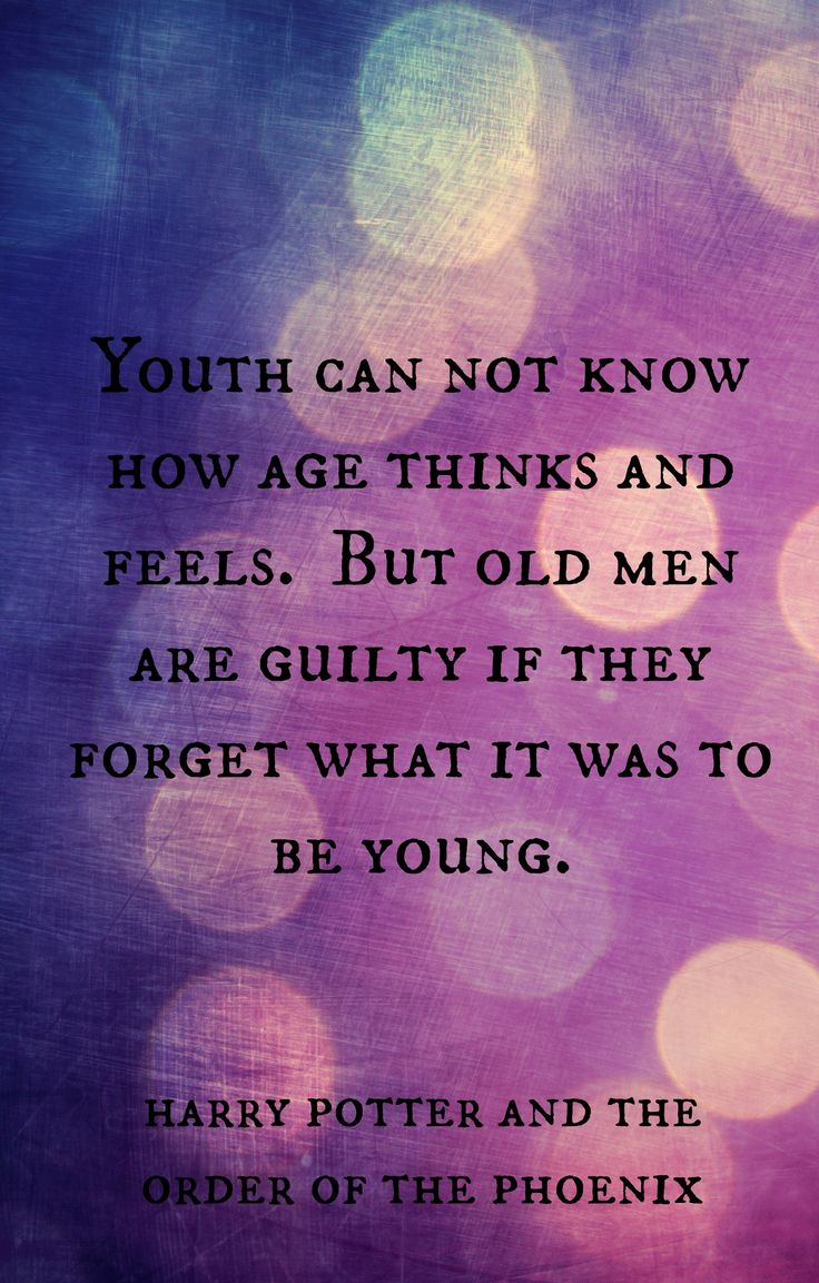 Dumbledore wisdom the young boy and the old man cf