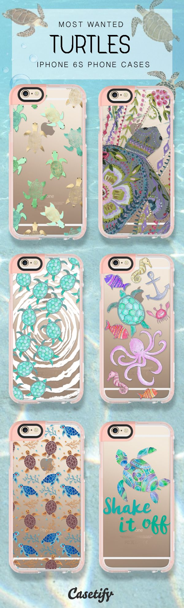 For the love of turtles! Shop these iPhone 6S phone cases here >>> https://www.casetify.com/artworks/6qGZxVIj3n