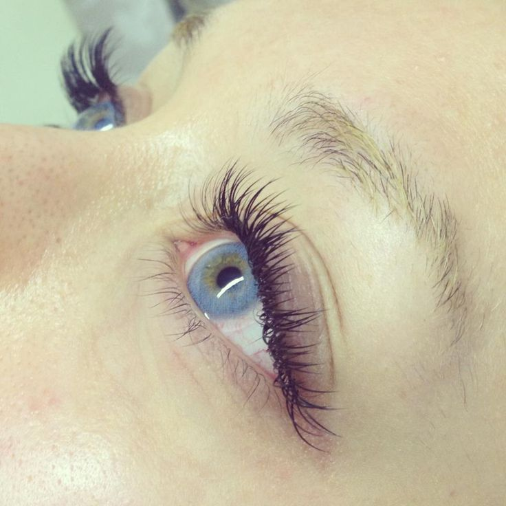 Gorgeous 3/4 set of individual eyelash extensions by Laura @Doug Martin Beauty Boutique