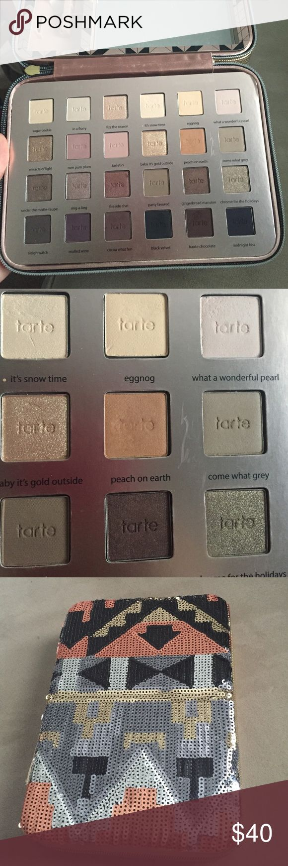 Tarte holiday palette Tarte 2015 holiday palette. Few shades swatched, one used (as pictured above). Just the eyeshadows are included, the small palette lip color and mascara not included. tarte Makeup Eyeshadow