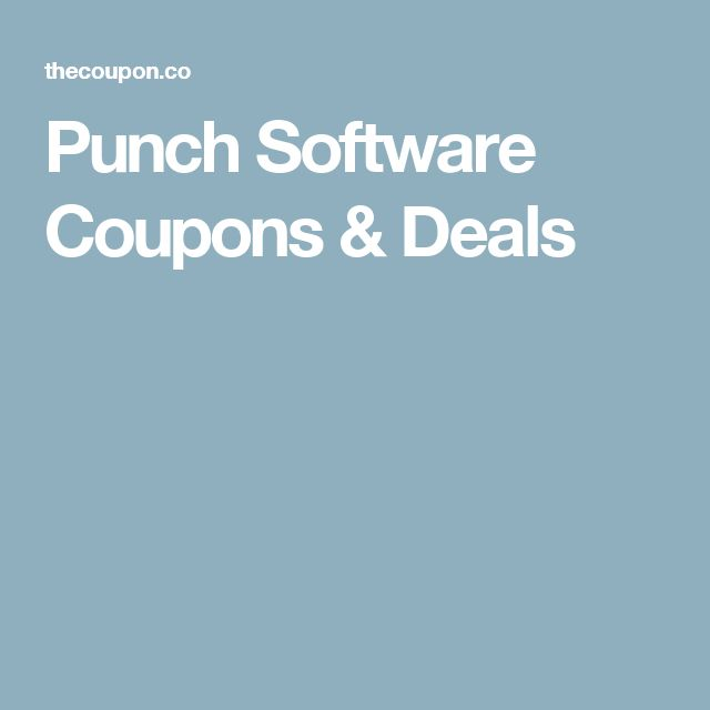 Punch Software Coupons & Deals