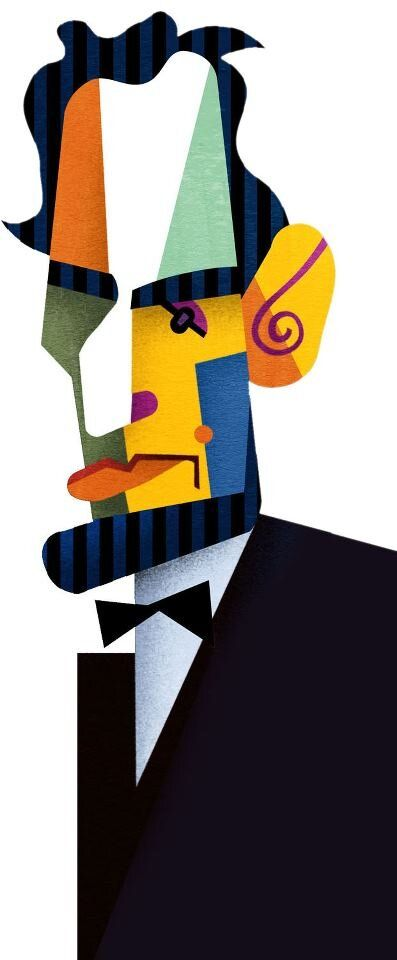 Lincoln by David Cowles | Karikaturen | Caricature artist, Celebrity caricatures, Caricature