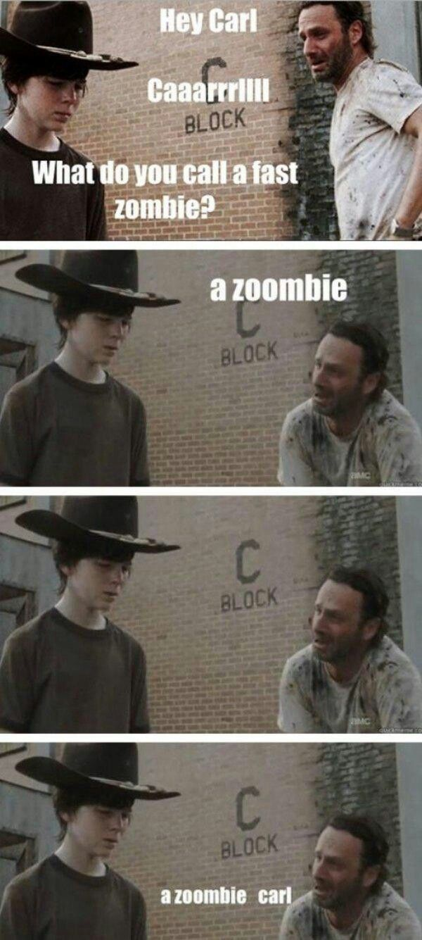 af5d845b2de7ecdda655b8ebd147f3f9 dad jokes puns 8 best carl memes images on pinterest the walking dead, funny