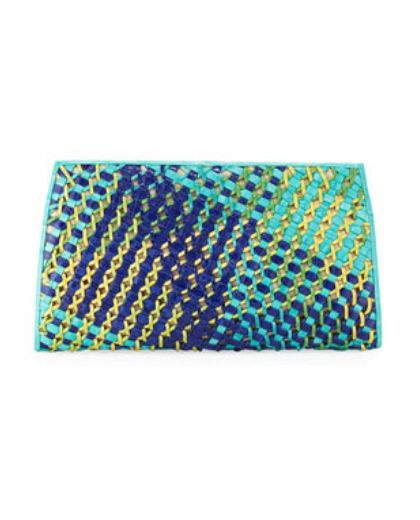 Woven Front Crocodile Clutch | Nancy Gonzalez