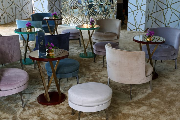 FLEXFORM FEEL GOOD ARMCHAIRS AND OTTOMANS, designed by Antonio Citterio furnish the exclusive #ChopardRooftop at the Hotel Martinez during the Festival de Cannes 2016.
