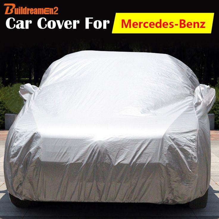 Buildreamen2 Full Car Cover Auto Sun Rain Snow Dust Resistant Cover For Mercedes-Benz Viano A45 CLA CLA45 CLK CLK63 CLK55 AMG