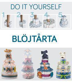 Skapa din egen blöjtårta! Gå hit: http://www.jollyroom.se/inspiration/diy-babyshower för att läsa hur man gör! #babyshower #bebis #mamma #jollyroom #DIY