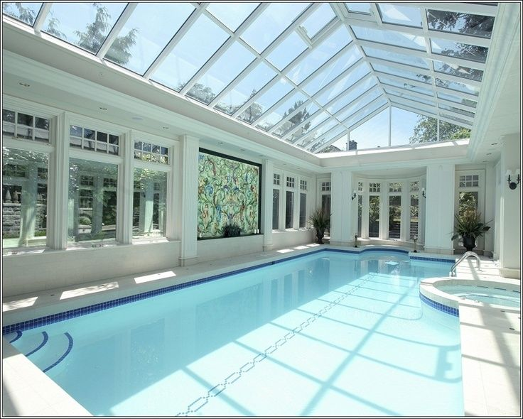 283 best indoor pool designs images on pinterest for Inground indoor pool designs