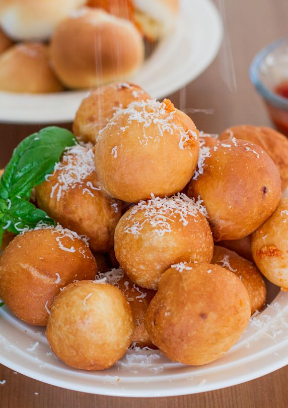 Baked or Fried Pizza Balls - so easy and fun to make, and of course yummy!