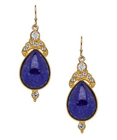 Ben-Amun Lapis Drop Earrings #maxandchloe