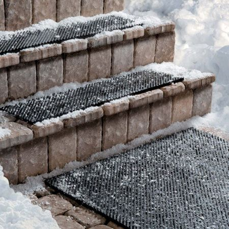 Secure Step Stair Treads  To avoid an accidental fall or dragging more snow into the house, apply these treads to your front door stairs. The mailman and neighbors will thank you for the extra traction.  To buy: $22 for 9 by 36 inches, improvementscatalog.com.