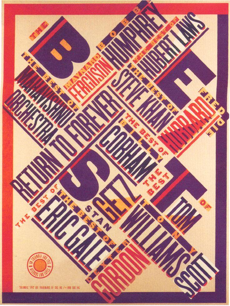Paula Scher / Jazz Poster
