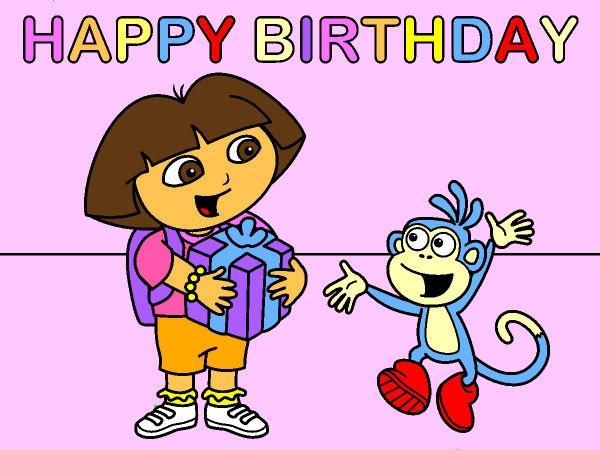 dora happy birthday coloring pages - photo#26