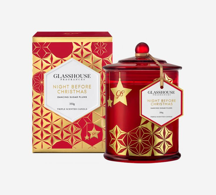 Limited Edition Night Before Christmas Dancing Sugar Plums Triple Scented Candle by Glasshouse Fragrances