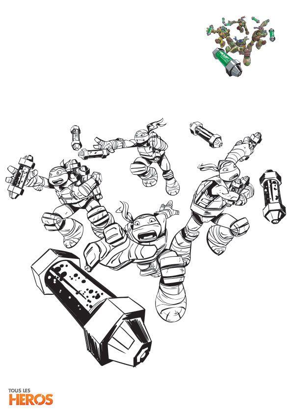 Cette semaine, Tous les Héros vous propose d'imprimer les coloriages Tortues Ninja !