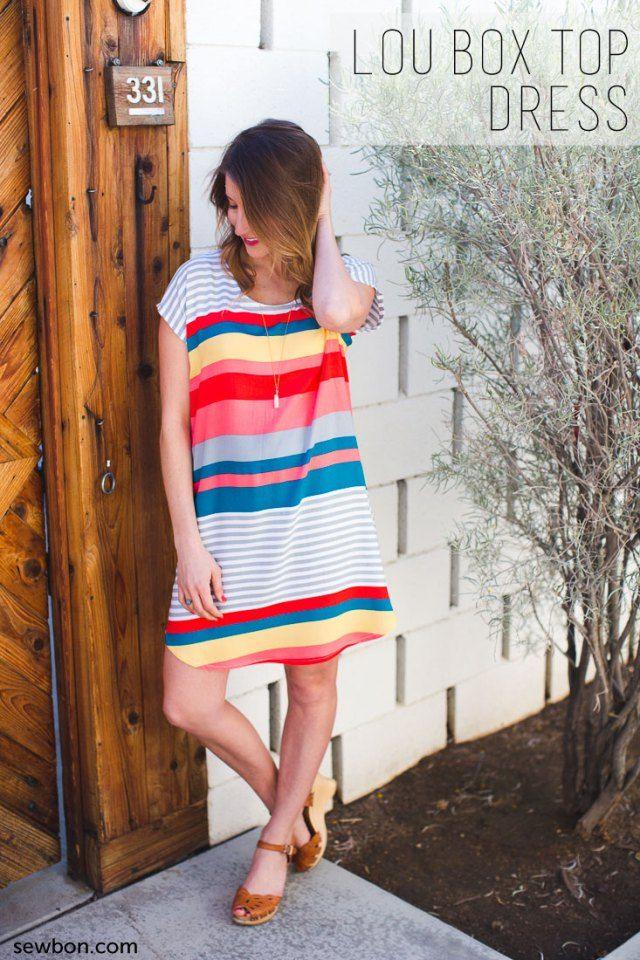 Sew DIY Lou Box Top dress hack at Sewbon.com