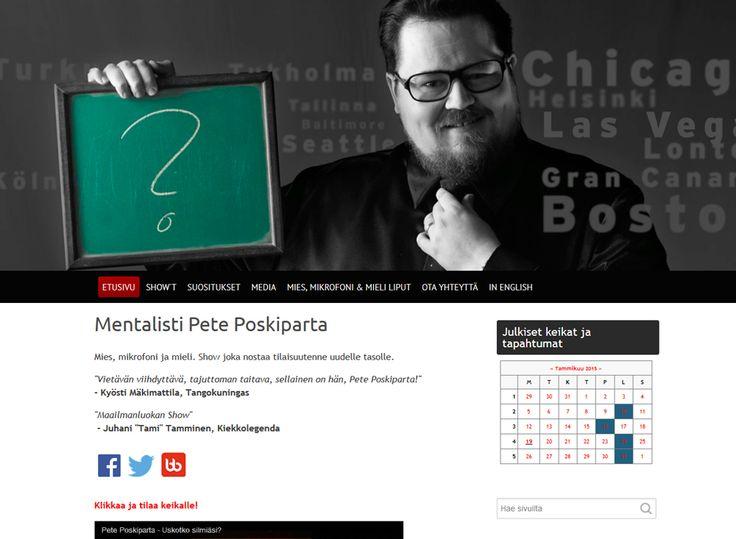 Mentalisti Pete Poskiparta on mies, joka hämmästyttää mielenhallinnan tempuillaan. Kotisivukoneen avulla Pete on loihtinut itselleen selkeän särmikkäät kotisivut, joilta löytää etsimänsä silmän räpäyksessä.