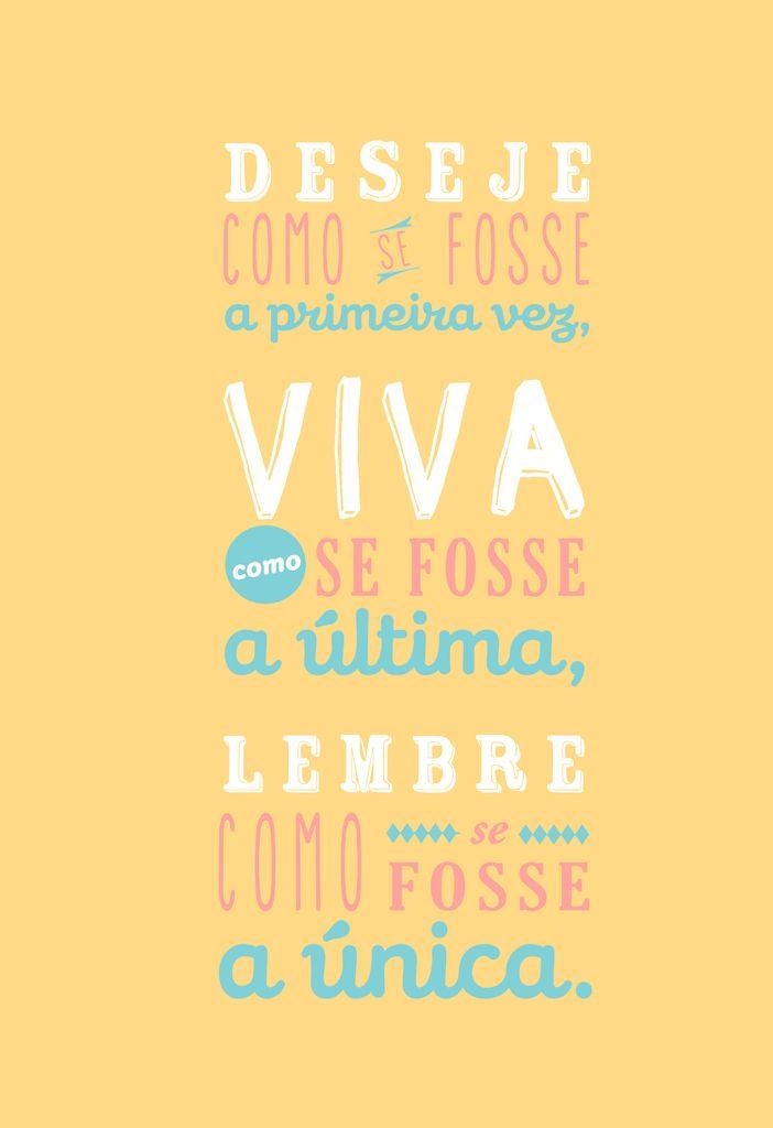 Poster Frase Viva como se fosse a ultima - Decor10