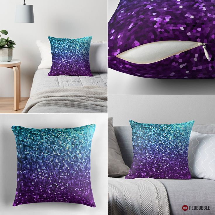 SOLD Throw Pillow Mosaic Sparkley Texture!  http://www.redbubble.com/people/medusa81/works/11669115-mosaic-sparkley-texture?asc=u #Redbubble #throw #pillows #mosaic #sparkley #texture #turquoise #purple #bright #homedecor #home