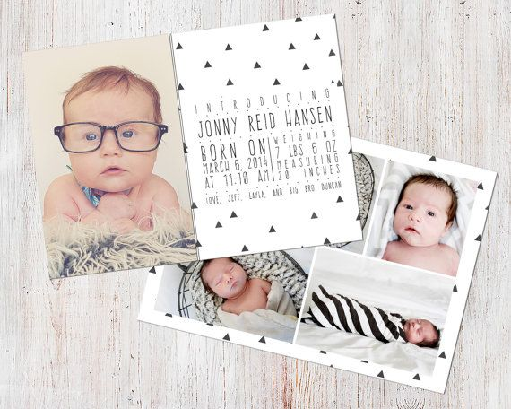 Birth Announcement Template Birth Announcement Boy by deanworks