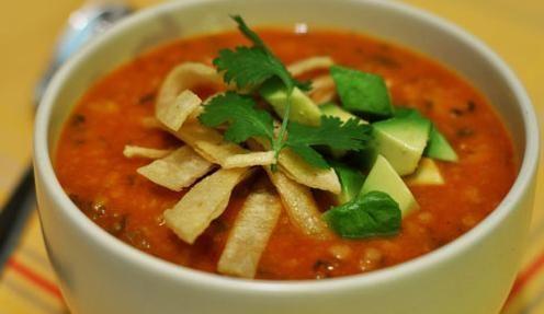 Receta de sopa mexicana -  Que delicia  ya quiero hacerla....