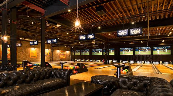 Have You Ever Seen A Bowling Alley As Cool Looking As Brooklyn Bowl Home Bowling Alley Brooklyn Bowl Bowling Alley