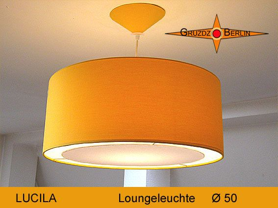 Lamp LUCILA Ø 50 cm pendant lamp with light edge canopy sun yellow