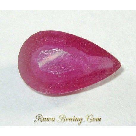 Batu Mulia Natural Ruby Tetes Air Purplish Red 6.80 carat