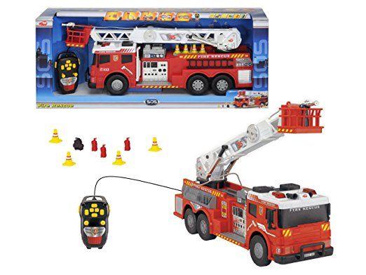 Dickie-Spielzeug - Camión de bomberos de rescate - Fire Rescue