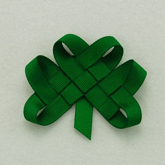 Shamrock Hair Clip or Lapel Pin  Notre Dame by KatiebugBows, $5.00